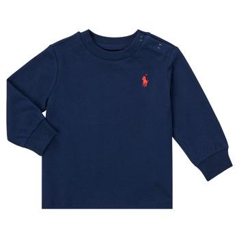 Υφασμάτινα Αγόρι Μπλουζάκια με μακριά μανίκια Polo Ralph Lauren FADILA Marine