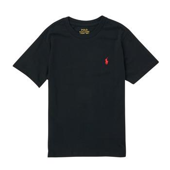 Υφασμάτινα Αγόρι T-shirt με κοντά μανίκια Polo Ralph Lauren FANNY Black