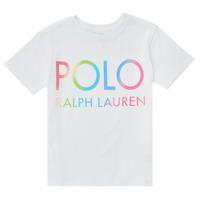 Υφασμάτινα Κορίτσι T-shirt με κοντά μανίκια Polo Ralph Lauren FERILO Άσπρο
