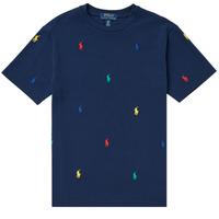 Υφασμάτινα Αγόρι T-shirt με κοντά μανίκια Polo Ralph Lauren MOULINE Marine