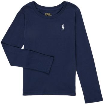 Υφασμάτινα Κορίτσι Μπλουζάκια με μακριά μανίκια Polo Ralph Lauren PETRA Marine