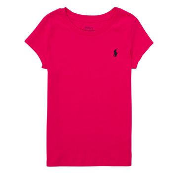 Υφασμάτινα Αγόρι T-shirt με κοντά μανίκια Polo Ralph Lauren ASKIRA Ροζ