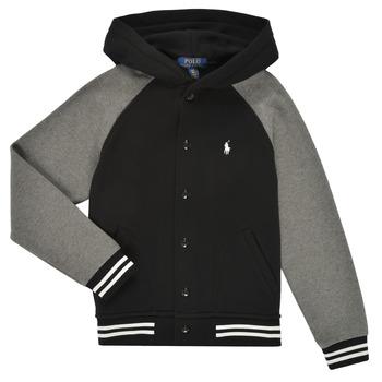 Υφασμάτινα Αγόρι Φούτερ Polo Ralph Lauren DENINO Black / Grey