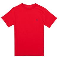 Υφασμάτινα Κορίτσι T-shirt με κοντά μανίκια Polo Ralph Lauren FOLLIA Red