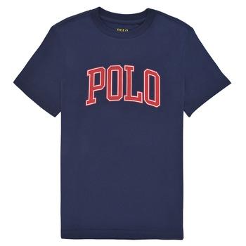 Υφασμάτινα Κορίτσι T-shirt με κοντά μανίκια Polo Ralph Lauren MATIKA Marine