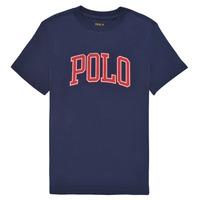 Υφασμάτινα Αγόρι T-shirt με κοντά μανίκια Polo Ralph Lauren MALIKA Marine