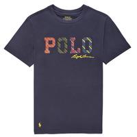 Υφασμάτινα Αγόρι T-shirt με κοντά μανίκια Polo Ralph Lauren COLLINA Marine