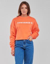 Υφασμάτινα Γυναίκα Φούτερ Converse EMBROIDERED WORDMARK CREW Orange