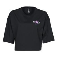 Υφασμάτινα Γυναίκα T-shirt με κοντά μανίκια Converse CHUCK INSPIRED HYBRID FLOWER OVERSIZED CROPPED TEE Black