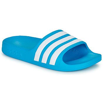 Παπούτσια Παιδί σαγιονάρες adidas Performance ADILETTE AQUA K Μπλέ / Άσπρο