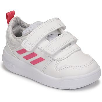 Παπούτσια Κορίτσι Χαμηλά Sneakers adidas Performance TENSAUR I Άσπρο / Ροζ