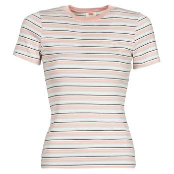 T-shirt με κοντά μανίκια Levis SS RIB BABY TEE Σύνθεση: Βαμβάκι