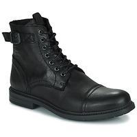 Παπούτσια Άνδρας Μπότες Jack & Jones JFW SHELBY LEATHER Black