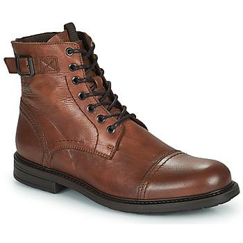 Παπούτσια Άνδρας Μπότες Jack & Jones JFW SHELBY LEATHER Cognac