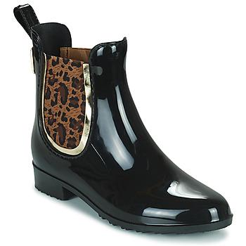 Παπούτσια Γυναίκα Μπότες βροχής Les Tropéziennes par M Belarbi RAINBOO Black / Leopard