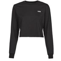 Υφασμάτινα Γυναίκα Μπλουζάκια με μακριά μανίκια Vans JUNIOR V LS CROP Black