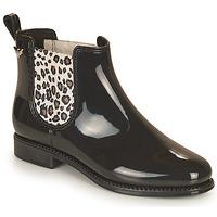 Παπούτσια Γυναίκα Μπότες βροχής Les Petites Bombes RAIN Black / Leopard