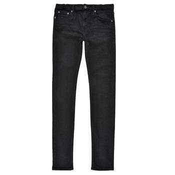 Υφασμάτινα Αγόρι Skinny jeans Teddy Smith FLASH SKINNY Black
