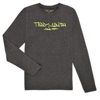 Υφασμάτινα Αγόρι Μπλουζάκια με μακριά μανίκια Teddy Smith TICLASS3 ML Grey