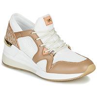 Παπούτσια Γυναίκα Χαμηλά Sneakers MICHAEL Michael Kors LIV Camel / Άσπρο