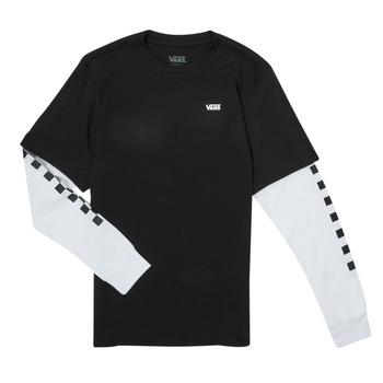 Υφασμάτινα Αγόρι Μπλουζάκια με μακριά μανίκια Vans LONG CHECK TWOFER Black