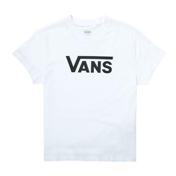 Υφασμάτινα Κορίτσι T-shirt με κοντά μανίκια Vans FLYING V SS Άσπρο
