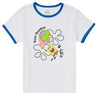 Υφασμάτινα Κορίτσι T-shirt με κοντά μανίκια Vans VANS X SPONGEBOB BEST BUDDIES RINGER Άσπρο