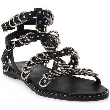 Παπούτσια Γυναίκα Σανδάλια / Πέδιλα Mosaic 3010 VITELLO NERO Nero