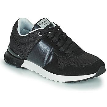 Παπούτσια Γυναίκα Χαμηλά Sneakers Pepe jeans VERONA PRO FUN Black
