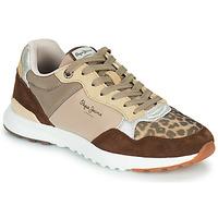 Παπούτσια Γυναίκα Χαμηλά Sneakers Pepe jeans VERONA PRO TOUCH Brown / Beige
