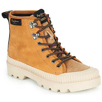 Παπούτσια Γυναίκα Ψηλά Sneakers Pepe jeans ASCOT DESERT Camel