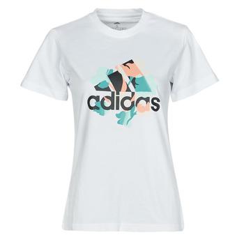 Υφασμάτινα Γυναίκα T-shirt με κοντά μανίκια adidas Performance FLORAL GFX Άσπρο