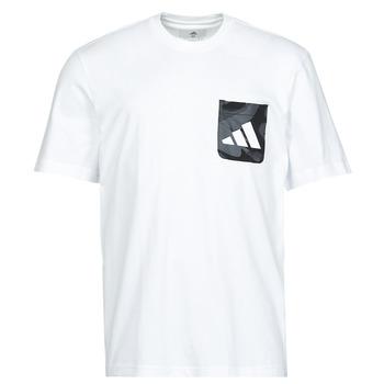 Υφασμάτινα Άνδρας T-shirt με κοντά μανίκια adidas Performance CAMO PKT TEE Άσπρο