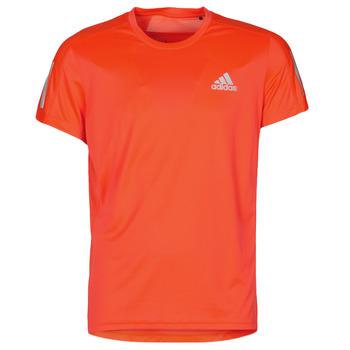 Υφασμάτινα Άνδρας T-shirt με κοντά μανίκια adidas Performance OWN THE RUN TEE App / Solar / Κοκκινο