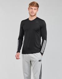 Υφασμάτινα Άνδρας Μπλουζάκια με μακριά μανίκια adidas Performance TF LS FT 3S Black