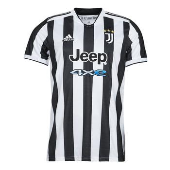 Υφασμάτινα T-shirt με κοντά μανίκια adidas Performance JUVE H JSY Άσπρο