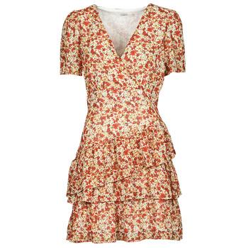 Υφασμάτινα Γυναίκα Κοντά Φορέματα Moony Mood ORNAMA Άσπρο / Multicolour
