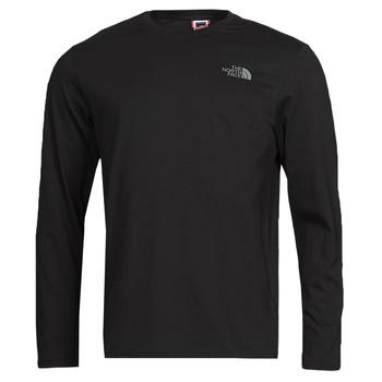 Υφασμάτινα Άνδρας Μπλουζάκια με μακριά μανίκια The North Face L/S EASY TEE Black