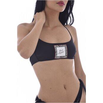Υφασμάτινα Γυναίκα Μαγιό μόνο το πάνω ή κάτω μέρος Karl Lagerfeld KL21WTP12 LIBRARY Bandeau Black