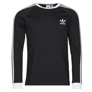 Υφασμάτινα Άνδρας Μπλουζάκια με μακριά μανίκια adidas Originals 3-STRIPES LS T Black