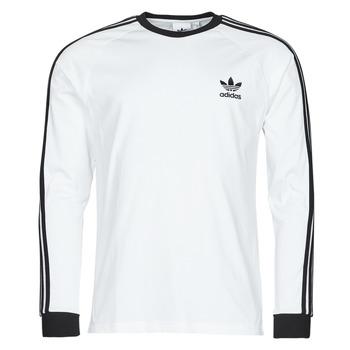 Υφασμάτινα Άνδρας Μπλουζάκια με μακριά μανίκια adidas Originals 3-STRIPES LS T Άσπρο