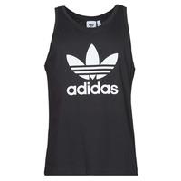 Υφασμάτινα Άνδρας Αμάνικα / T-shirts χωρίς μανίκια adidas Originals TREFOIL TANK Black