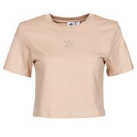 Υφασμάτινα Γυναίκα T-shirt με κοντά μανίκια adidas Originals CROPPED  TEE Beige
