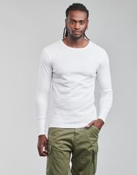 Υφασμάτινα Άνδρας Μπλουζάκια με μακριά μανίκια G-Star Raw BASE R T LS 1-PACK Άσπρο