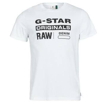Υφασμάτινα Άνδρας T-shirt με κοντά μανίκια G-Star Raw GRAPHIC 8 R T SS Άσπρο