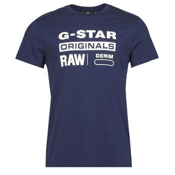 Υφασμάτινα Άνδρας T-shirt με κοντά μανίκια G-Star Raw GRAPHIC 8 R T SS Μπλέ