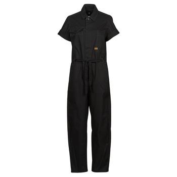 Υφασμάτινα Γυναίκα Ολόσωμες φόρμες / σαλοπέτες G-Star Raw ARMY JUMPSUIT SS Black