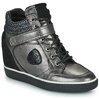 Παπούτσια Γυναίκα Ψηλά Sneakers Philippe Morvan NOEK Black / Silver
