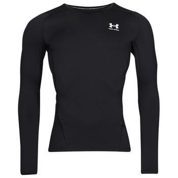 Υφασμάτινα Άνδρας Μπλουζάκια με μακριά μανίκια Under Armour UA HG ARMOUR COMP LS Black / Άσπρο