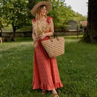 Υφασμάτινα Γυναίκα Μακριά Φορέματα Céleste AURORE version courte Red